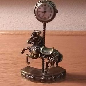 Other - 🐎Carousel Horse Brass Vanity Timepiece Clock